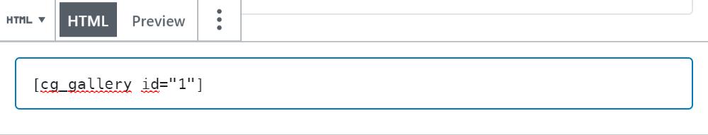 HTML Block example