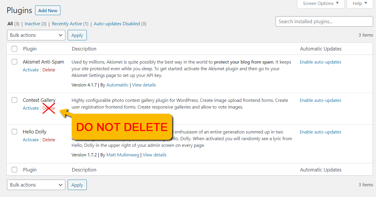 do not delete normal version